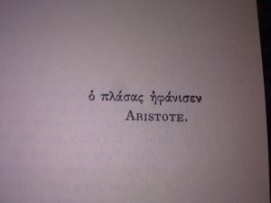 quote of aristote in greek