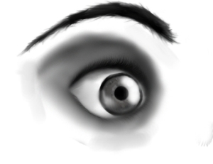 digital painting eye