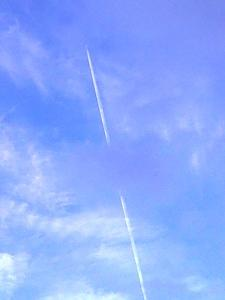 mysterious rockets in the sky