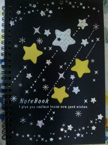 black wishes copybook with stars