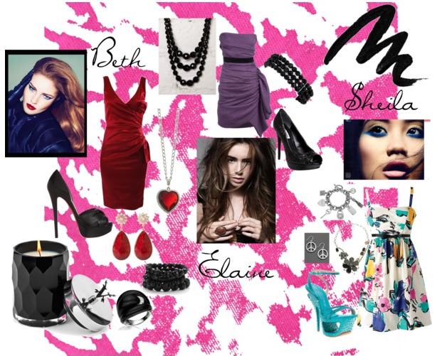 polyvore girl outfits for night