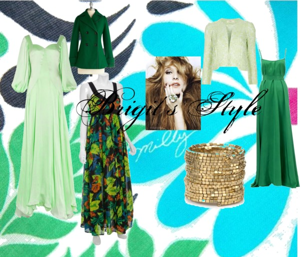 polyvore nature green outfit