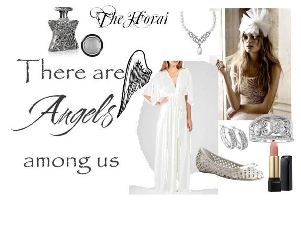 polyvore angel outfit