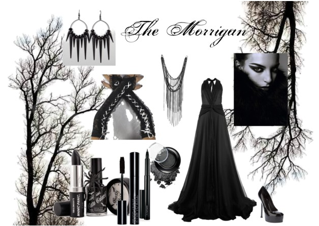 polyvore gothic dark outfit