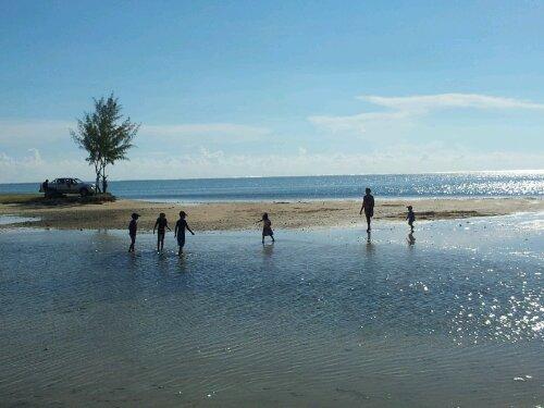 island beach and sea mauritius