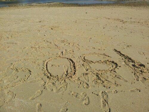 sos on the beach