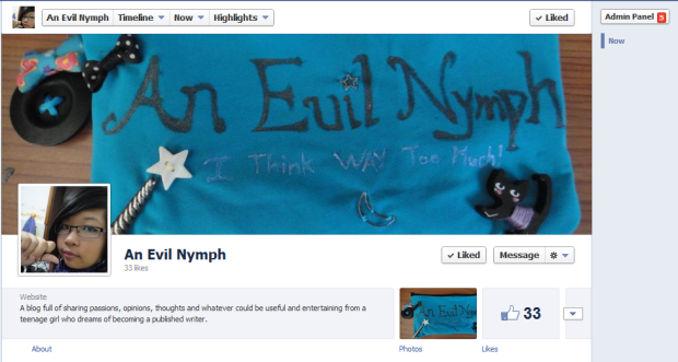 an evil nymph facebook page