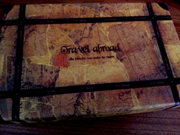 travel abroad vintage map box