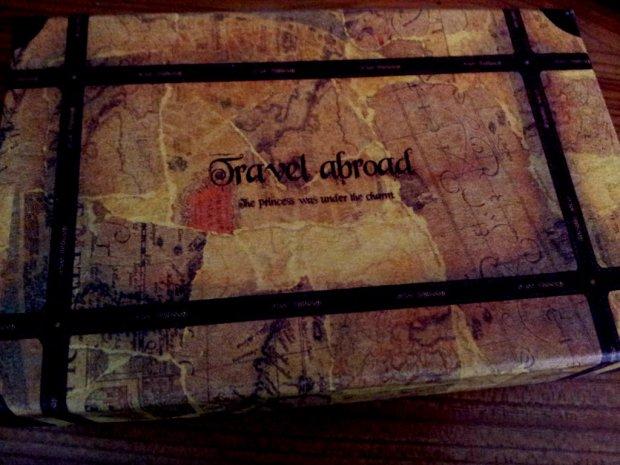 travel abroad vintage map box