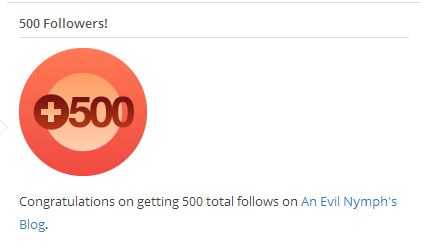 500 followers on wordpress
