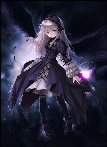 Evil anime girl witch