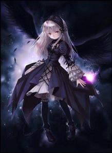 dark night angel anime girl