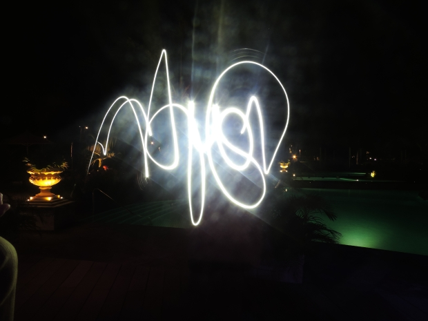 name light painting