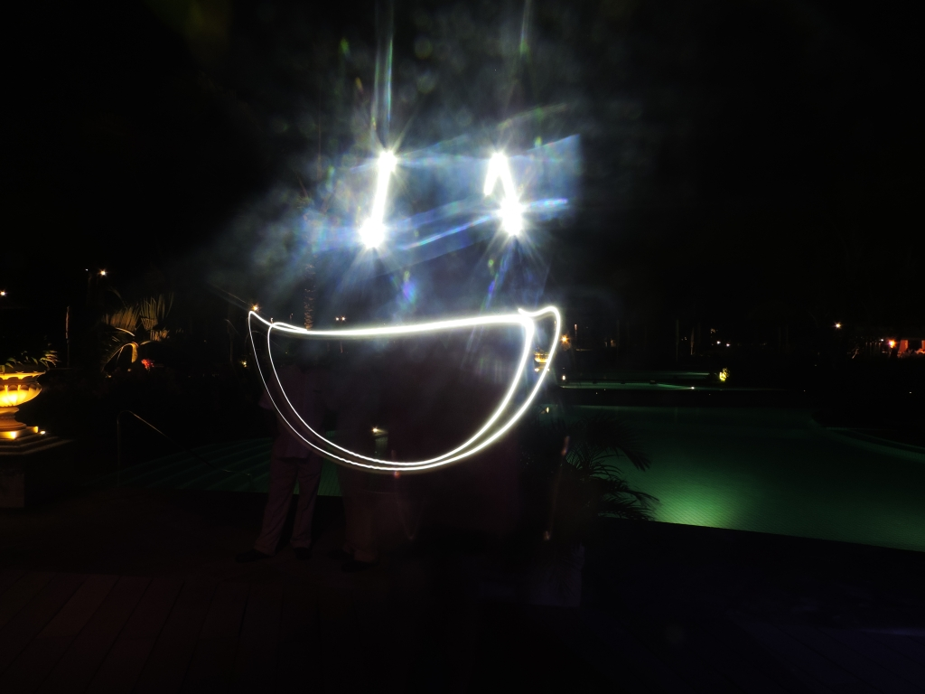 smiley light painting