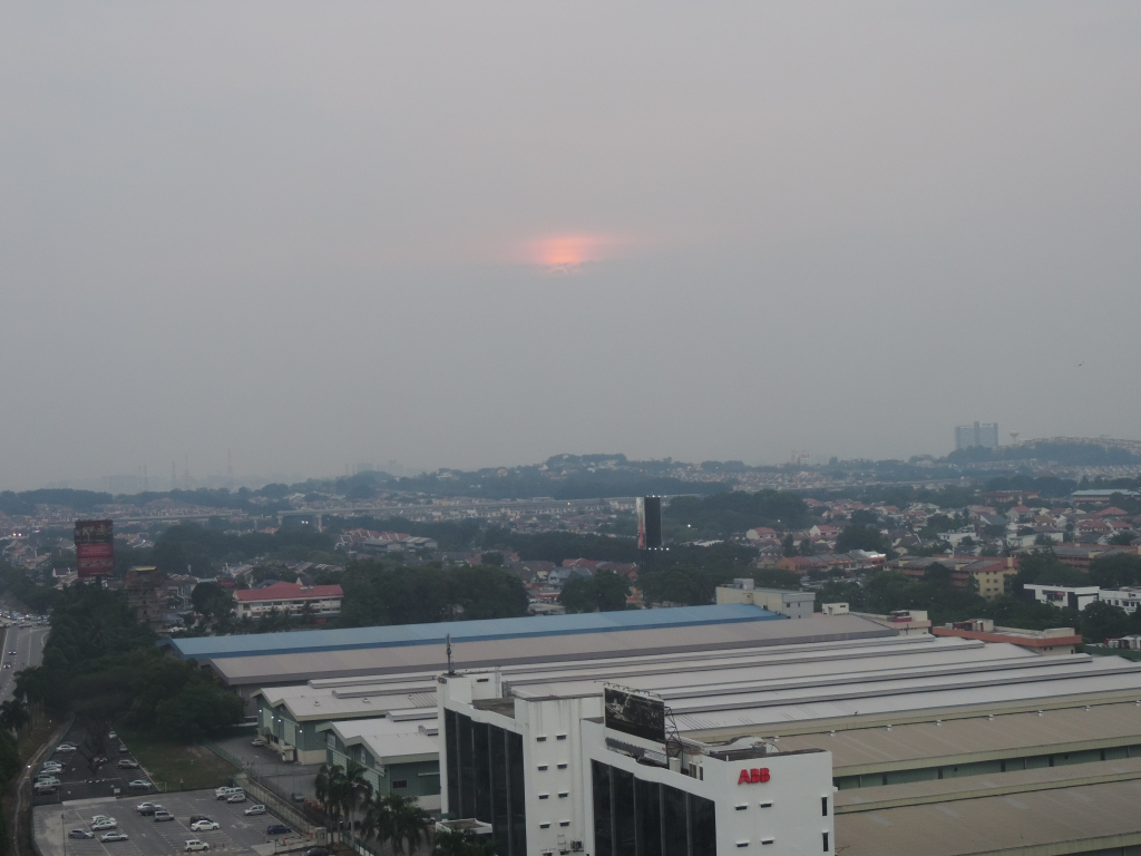 pollution sunset