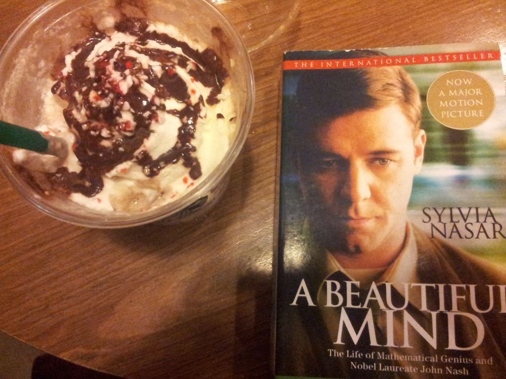 starbucks and a beautiful mind